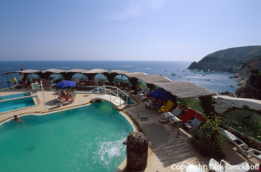 Italien, Ischia, Therme Giardino Tropical in Sant'Angelo