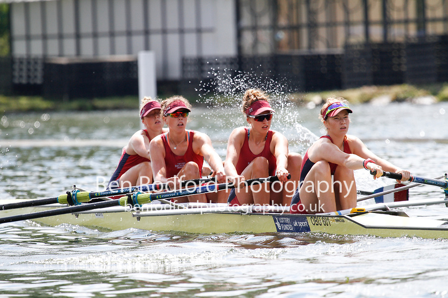 Race: 169 S4- Quarter-Final - Oxford Brookes vs Nottingham Univ<br /> <br /> Henley Women's Regatta 2017<br /> <br /> To purchase this photo, or to see pricing information for Prints and Downloads, click the blue 'Add to Cart' button at the top-right of the page.