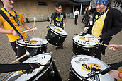 1st October 2017, Ricoh Arena, Coventry, England; Aviva Premiership rugby, Wasps versus Bath Rugby;  The Wasps drumming band entertain the crowd outside the stadium before kick-off