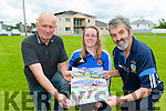 John Clifford, Lisa Brennan and Declan Falvey launching the Laune Rangers Night at the Dogs which will be held on Friday 10th July