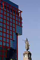 The Monumento a Cuauhtemoc on Paseo de la Reforma, Mexico City