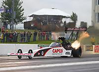 May 19, 2017; Topeka, KS, USA; NHRA top fuel driver Steve Torrence during qualifying for the Heartland Nationals at Heartland Park Topeka. Mandatory Credit: Mark J. Rebilas-USA TODAY Sports