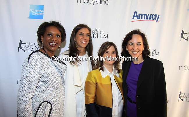 Candace, Ellen Lowey, Sharon Cohen and - The 2013 Skating with the Stars- a benefit gala for Figure Skating in Harlem on April 8, 2013 at Trump Wollman Rink, New York City, New York. (Photo by Sue Coflin/Max Photos)