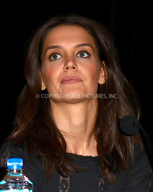 WWW.ACEPIXS.COM<br /> <br /> February 6 2016, New York City<br /> <br /> Actress Katie Holmes at the 'Touched with Fire' press conference on February 6 2016 in New York City<br /> <br /> By Line: Nancy Rivera/ACE Pictures<br /> <br /> <br /> ACE Pictures, Inc.<br /> tel: 646 769 0430<br /> Email: info@acepixs.com<br /> www.acepixs.com