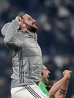 Calcio, Serie A: Juventus vs Roma. Torino, Juventus Stadium,17 dicembre 2016. <br /> Juventus' Gonzalo Higuain greets fans at the end of the Italian Serie A football match between Juventus and Roma at Turin's Juventus Stadium, 17 December 2016. Juventus won 1-0.<br /> UPDATE IMAGES PRESS/Isabella Bonotto