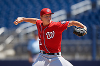 Washington Nationals pitcher Tyler Yankosky (55) during an Instructional League game against the Miami Marlins on September 26, 2019 at FITTEAM Ballpark of The Palm Beaches in Palm Beach, Florida.  (Mike Janes/Four Seam Images)