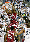 March 1, 2012: New Mexico State Aggies forward Wendell McKines slams the ball against the Nevada Wolf Pack during their NCAA basketball game played at Lawlor Events Center on Thursday night in Reno, Nevada.