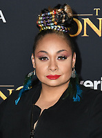 """09 July 2019 - Hollywood, California - Raven-Symone. Disney's """"The Lion King"""" Los Angeles Premiere held at Dolby Theatre. <br /> CAP/ADM/BT<br /> ©BT/ADM/Capital Pictures"""