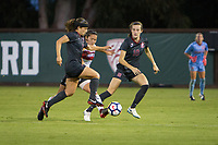 STANFORD, CA - August 10, 2018: Jaye Boissiere, Tierna Davidson at Laird Q. Cagan Stadium. The Stanford Cardinal defeated the Fresno State Bulldogs 4-0.