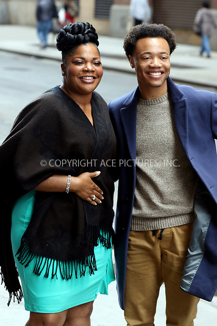 WWW.ACEPIXS.COM<br /> <br /> April 23 2015, New York City<br /> <br /> Actors Mo'Nique (L) and Julian Walker made an appearance at HuffPost Live on April 23 2015 in New York City<br /> <br /> By Line: Zelig Shaul/ACE Pictures<br /> <br /> <br /> ACE Pictures, Inc.<br /> tel: 646 769 0430<br /> Email: info@acepixs.com<br /> www.acepixs.com