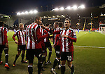 Billy Sharp of Sheffield Utd celebrates his first goal during the English League One match at Bramall Lane Stadium, Sheffield. Picture date: December 26th, 2016. Pic Simon Bellis/Sportimage