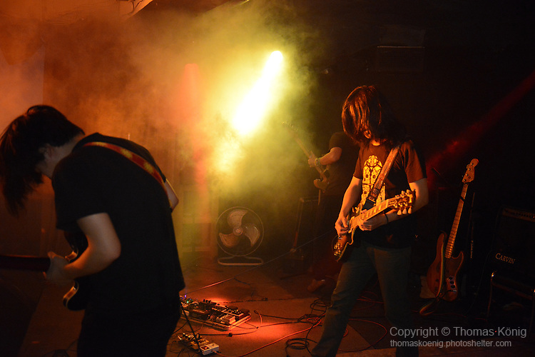 Kaohsiung, Taiwan -- Instrumental post-rock group BHD from Taipei perform at the Rocks on May 10, 2014 as part of the 'Noise Explosion Tour' line-up.