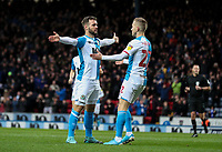 Blackburn Rovers' Adam Armstrong celebrates scoring the opening goal with Lewis Holtby<br /> <br /> Photographer Alex Dodd/CameraSport<br /> <br /> The EFL Sky Bet Championship - Blackburn Rovers v Preston North End - Saturday 11th January 2020 - Ewood Park - Blackburn<br /> <br /> World Copyright © 2020 CameraSport. All rights reserved. 43 Linden Ave. Countesthorpe. Leicester. England. LE8 5PG - Tel: +44 (0) 116 277 4147 - admin@camerasport.com - www.camerasport.com