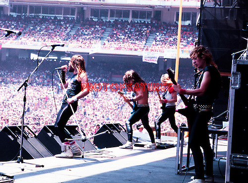 Iron Maiden 1982 at Anaheim Stadium<br />