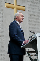 22/04/2007 ..An Taoiseach Bertie Ahern TD,.During the annual Arbour Hill Easter Rising Commemoration at the Arbour Hill Cemetery, Dublin..Photo: Collins.