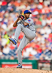 29 June 2017: Chicago Cubs pitcher Carl Edwards Jr. on the mound against the Washington Nationals at Nationals Park in Washington, DC. The Cubs rallied to defeat the Nationals 5-4 and split their 4-game series. Mandatory Credit: Ed Wolfstein Photo *** RAW (NEF) Image File Available ***