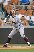 Arizona State Sun Devil first baseman Zach Wilson #25 at bat against the Texas Longhorns in NCAA Tournament Super Regional baseball on June 10, 2011 at Disch Falk Field in Austin, Texas. (Photo by Andrew Woolley / Four Seam Images)