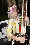 "MARLENA DALI. The sitarist pays tribute to George Harrison at the George Harrison Public Birthday Celebration by the Alliance for Survival, hosted by Jerry Rubin and ""Breakfast with the Beatles"" radio host Chris Carter at George Harrison's star on the Walk of Fame. Hollywood, CA, USA. February 25, 2010."