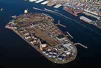 aerial photograph Governors Island, New York