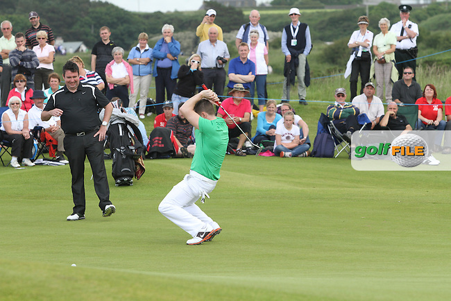 Shane Filan from Westlife during the Pro Am of the 2012 Irish Open at Royal Portrush Golf Club, Portrush...(Photo Jenny Matthews/www.golffile.ie)