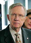 United States Senate Majority Leader Harry Reid (Democrat of Nevada) makes a statement to the press after he met with U.S. President Barack Obama and other bipartisan leaders of the Senate in the Oval Office to discuss the Supreme Court vacancy left by the retirement of Justice Stevens in Washington, D.C. on Wednesday, April 21, 2010. .Credit: Ron Sachs / Pool via CNP