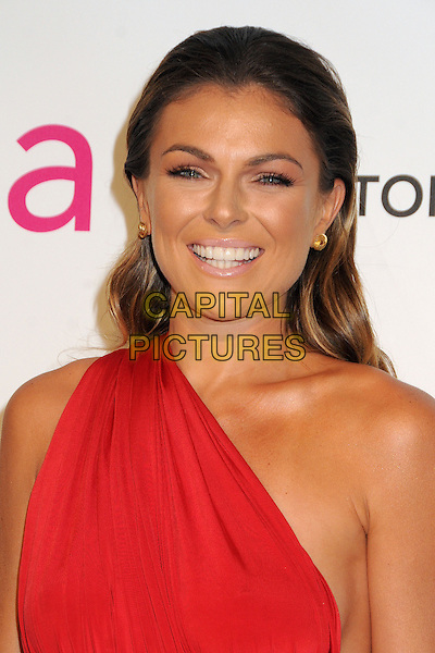 Serinda Swan.21st Annual Elton John Academy Awards Viewing Party held at West Hollywood Park, West Hollywood, California, USA..February 24th, 2013.oscars headshot portrait red one shoulder.CAP/ADM/BP.©Byron Purvis/AdMedia/Capital Pictures.