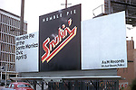 Billlboard on the  sunset Strip for rock group Humble Pie featured smoke coming from the billboar din a nod to the famous Calmel billboard with smoke rings in .New York's Times Square.