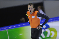 SCHAATSEN: HEERENVEEN: 01-02-2014, IJsstadion Thialf, Olympische testwedstrijd, Stefan Groothuis, ©foto Martin de Jong