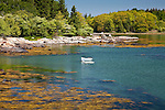 The blue water of Eggemoggin Reach, Deer Isle, ME, USA