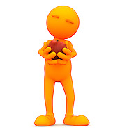 3d rendered orange man