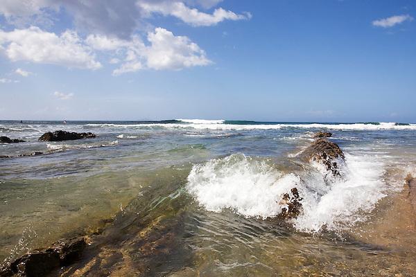 Tres Palmas Beach in Rincón, Puerto Rico on 31st December 2011.