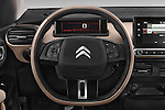 Car pictures of steering wheel view of a 2014 Citroen C4 CACTUS Shine Edition Midnight 5 Door Mini Van 2WD Steering Wheel