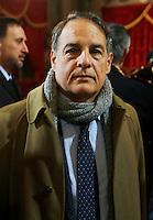 Il Presidente del tribunale di Nola Luigi Picardi  durante la cerimonia di innagurazione anno giudiziario in Campania <br /> Salone dei Busti Castel Capuano Napoli