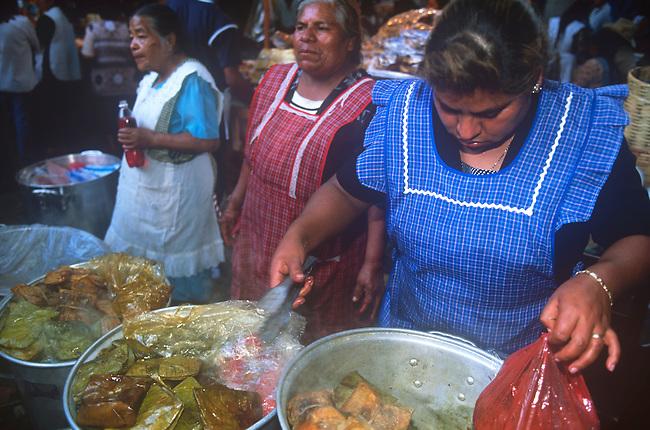 Food Vendor, Oaxaca City, Oaxaca, Mexico