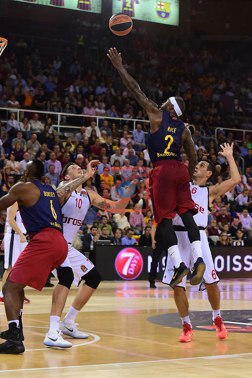 Turkish Airlines Euroleague 2016/2017.<br /> Regular Season - Round 4.<br /> FC Barcelona Lassa vs Brose Bamberg: 78-74.<br /> Tyrese Rice vs Nikos Zisis.