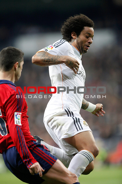 Real Madrid¬¥s Marcelo during a Spain King Cup soccer match between Real Madrid and Osasuna at Santiago Bernabeu Stadium in Madrid, Spain. January 09, 2014. Foto © nph / Caro Marin)