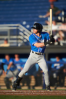 Hudson Valley Renegades center fielder Jake Fraley (27) at bat during a game against the Batavia Muckdogs on August 2, 2016 at Dwyer Stadium in Batavia, New York.  Batavia defeated Hudson Valley 2-1.  (Mike Janes/Four Seam Images)