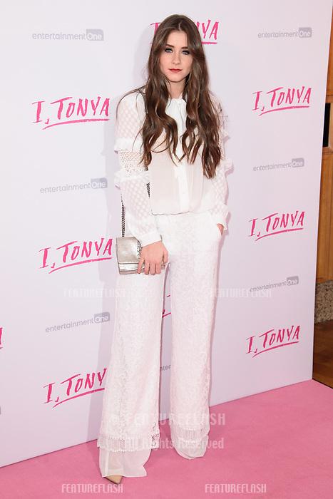 "Brooke Vincent at the ""I, Tonya"" premiere at the Curzon Mayfair, London, UK. <br /> 15 February  2018<br /> Picture: Steve Vas/Featureflash/SilverHub 0208 004 5359 sales@silverhubmedia.com"