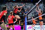 25.08.2018, …VB Arena, Bremen<br />Volleyball, LŠnderspiel / Laenderspiel, Deutschland vs. Niederlande<br /><br />Angriff Melanie Schšlzel / Schoelzel (#14 GER)<br /><br />  Foto &copy; nordphoto / Kurth