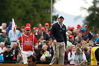 Rory McIlroy (NIR) on the 5th during the final day of the Omega European Masters, Crans-Sur-Sierre, Crans Montana, Switzerland.4/9/11.Picture: Golffile/Fran Caffrey..
