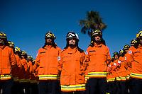 BRASÍLIA/DF, 29 DE JUNHO DE 2012 - ENTREGA VIATURAS BOMBEIROS - O Governador do Distrito Federal, Agnelo Queiroz, por meio da Secretaria de Estado de Seguranca Publica do Distrito Federal (SSP/DF) e do Corpo de Bombeiros Militar do Distrito Federal (CBMDF), entrega a populacao caminhoes para transporte de tropa e equipamentos de protecao individual para uso dos bombeiros militares que irao fortalecer o combate a incendios em areas urbanas e no cerrado. A solenidade de entrega faz parte das comemoracoes pelos 156 anos de fundacao do CBMDF, celebrado em 2 de julho. FOTO: PEDRO FRANCA/BRAZIL PHOTO PRESS