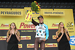 Romain Bardet (FRA) AG2R La Mondiale wins Stage 12 of the 104th edition of the Tour de France 2017, running 214.5km from Pau to Peyragudes, France. 13th July 2017.<br /> Picture: ASO/Olivier Chabe | Cyclefile<br /> <br /> <br /> All photos usage must carry mandatory copyright credit (&copy; Cyclefile | ASO/Olivier Chabe)