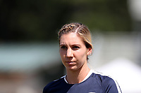 Cary, North Carolina  - Saturday August 19, 2017: Alyssa Kleiner prior to a regular season National Women's Soccer League (NWSL) match between the North Carolina Courage and the Washington Spirit at Sahlen's Stadium at WakeMed Soccer Park. North Carolina won the game 2-0.