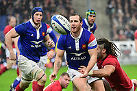 (L-R) Camille Lopez of France and Josh Navidi of Wales during the NatWest Six Nations match between France and Wales on February 1, 2019 in Paris, France. (Photo by Dave Winter/Icon Sport)