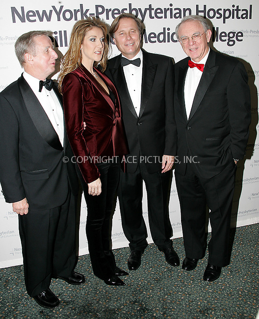 """WWW.ACEPIXS.COM . . . . . ....NEW YORK, OCTOBER 14, 2004....Celine Dion performed at the sold out benefit """"A New Cabaret"""" to support New York Presbyterian Hospital and Weill Cornell Medical Center. The event raised $2.5 million dollars to support patient care and clinical research programs for the centers.....Please byline: BRIAN FLANNERY - ACE PICTURES.. . . . . . ..Ace Pictures, Inc:  ..Alecsey Boldeskul (646) 267-6913 ..Philip Vaughan (646) 769-0430..e-mail: info@acepixs.com..web: http://www.acepixs.com"""