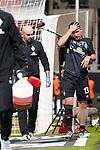 Verletzung / verletzt / Schmerzen, Milos Veljkovic (Werder Bremen #13), Adis Lovic (Physiotherapeut SV Werder Bremen)<br /> <br /> <br /> Sport: nphgm001: Fussball: 1. Bundesliga: Saison 19/20: Relegation 02; 1.FC Heidenheim vs SV Werder Bremen - 06.07.2020<br /> <br /> Foto: gumzmedia/nordphoto/POOL <br /> <br /> DFL regulations prohibit any use of photographs as image sequences and/or quasi-video.<br /> EDITORIAL USE ONLY<br /> National and international News-Agencies OUT.
