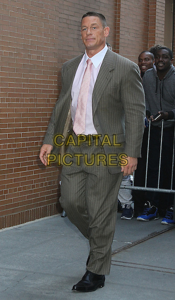 NEW YORK, NY - MARCH 30: John Cena arrives at 'The View' in New York, New York on March 30, 2016.  <br /> CAP/MPI/RMP<br /> &copy;RMP/MPI/Capital Pictures