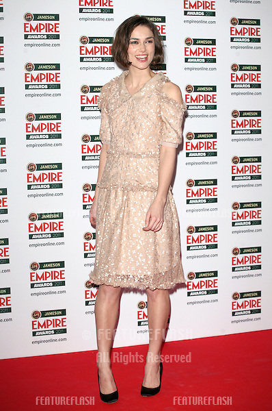 Keira Knightley arriving for the Jameson Empire Awards 2011, Grosvenor House Hotel, London. 27/03/2011  Picture by: Alexandra Glen / Featureflash