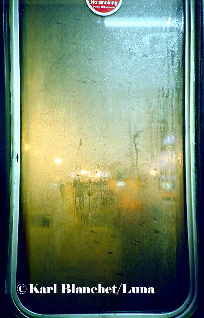 rain on a window. London