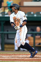 Lakeland Flying Tigers shortstop Dixon Machado (1) during a game against the Brevard County Manatees on April 10, 2014 at Joker Marchant Stadium in Lakeland, Florida.  Lakeland defeated Brevard County 6-5.  (Mike Janes/Four Seam Images)